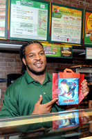 SUBWAY Welcomes Jarvis Jones With Life-Size Food Statue
