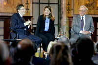 Bill Gates, Melinda French Gates and Warren Buffett hold Town Hall
